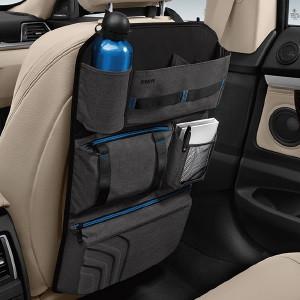 BMW Lehnentasche schwarz/grau-meliert