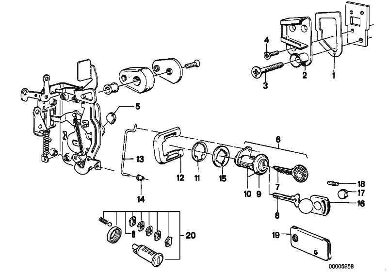 Klammer  3er 5er 7er M1 X5 Z3  (51211838035)