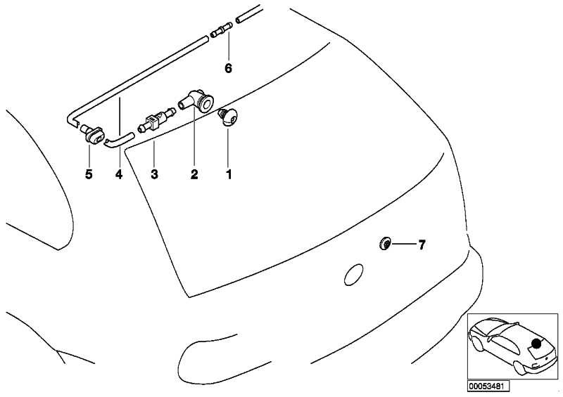 Spritzdüse für Heckscheibenwaschanlage  3er X5  (61688220823)