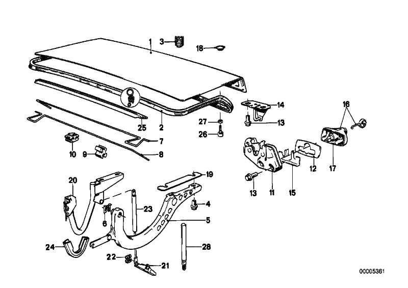 Heckklappenverschluss mit Schlüssel  3er  (51241904514)