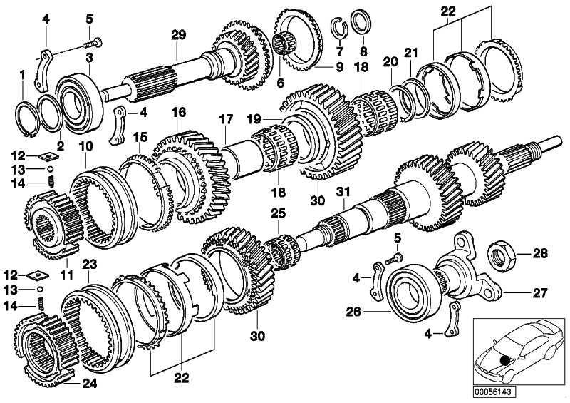 Bundmutter  3er 5er 7er Z3  (23217543319)