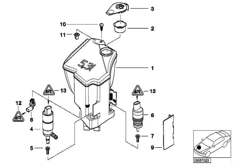 Behälter Scheinwerferwaschanlage 5L              3er Z4  (61677008057)
