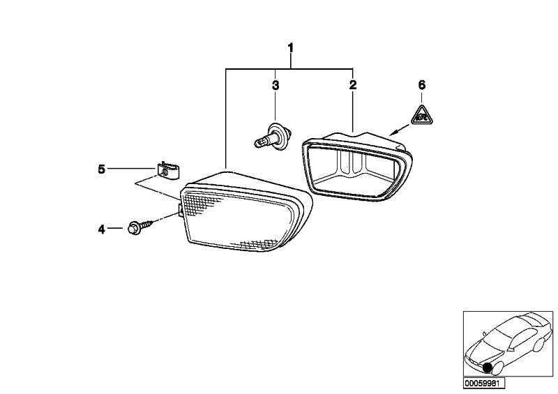Abdeckkappe Nebelscheinwerfer links ZKW             5er Z3  (63178381975)