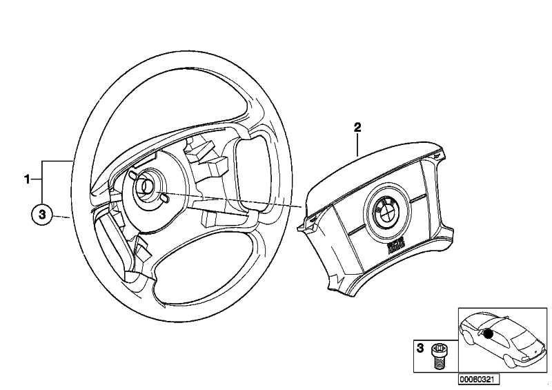 Lenkrad Leder Airbag  3er  (32346753945)