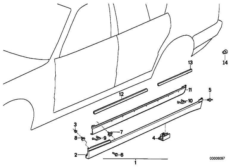 Abdeckung rechts CODE - MET.     5er  (51219068591)