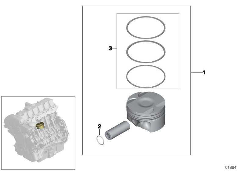 Reparatursatz Kolbenringe (0) 3er 5er 7er X3 X5 Z3 Z4  (11257506252)