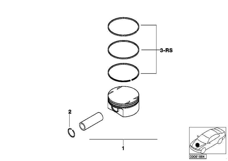 Mahle Kolben (0) 3er 5er X3 Z4  (11257512526)