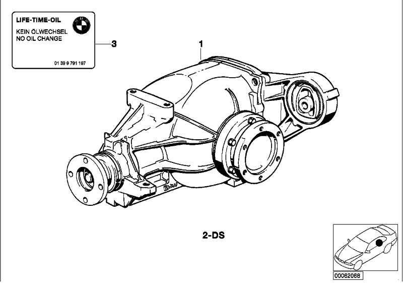 Dichtungssatz Hinterachsgetriebe TYP 168         3er Z3  (33101214117)