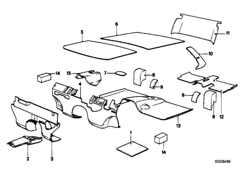 Schallisolierung Stirnwand Motorraum  3er  (51481852059)