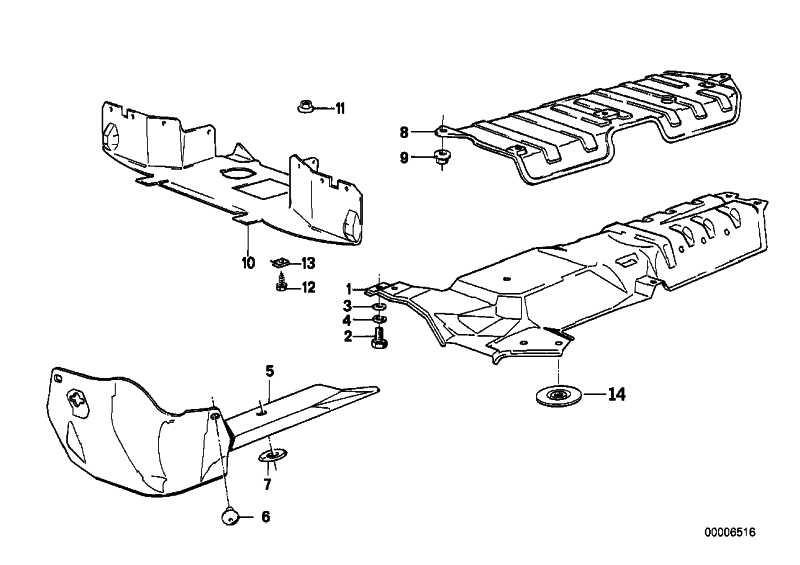 Abschirmung Motorraum  3er  (51711965609)