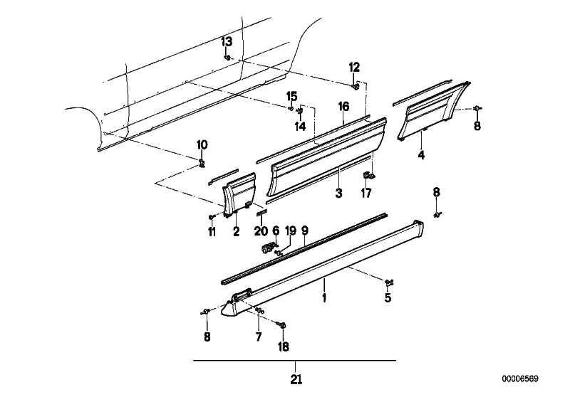 Verkleidung Seitenwand links M TECHNIC       3er  (51712234021)