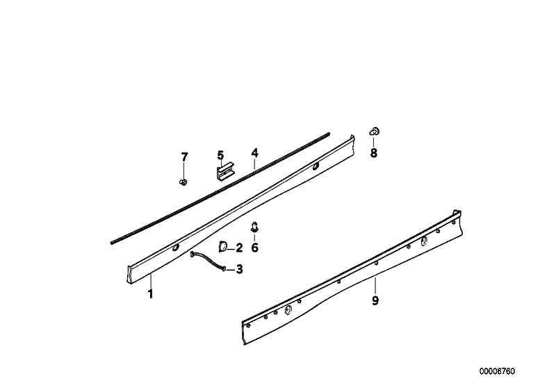 Schwellerleiste links grundiert  3er  (51718190707)