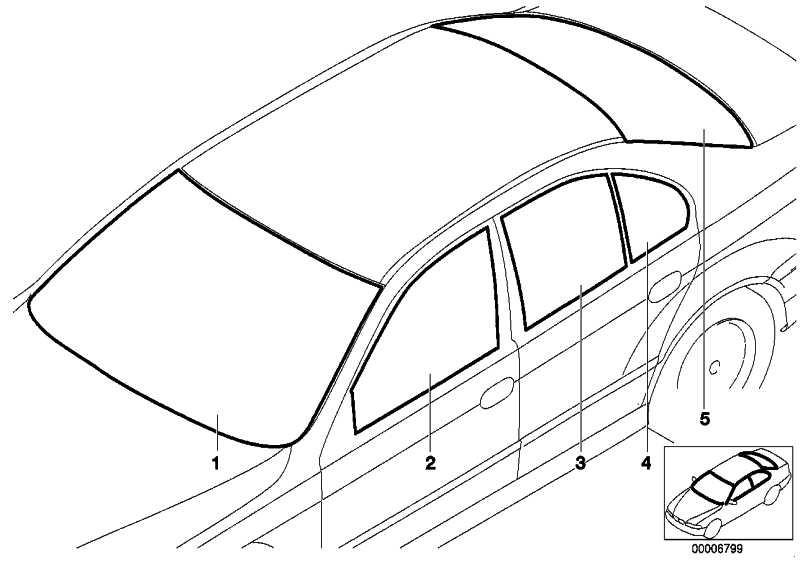 Frontscheibe grün RS              5er  (51317059698)
