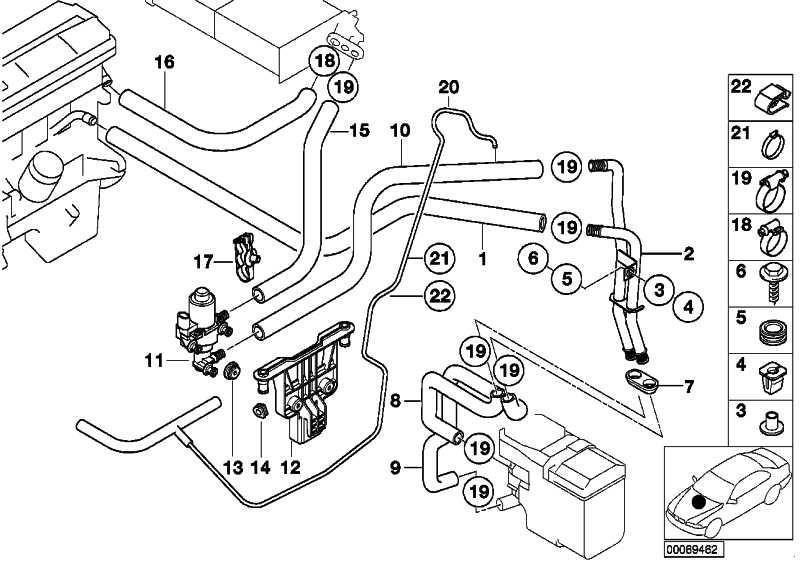 Schlauch Motorvorlauf-Doppelrohr  5er  (64218378952)