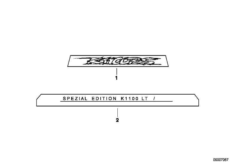Abziehbild GOLD/ANTHRAZIT  (51142324032)