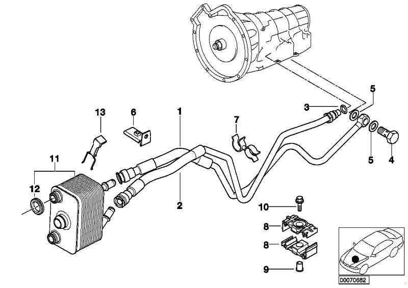 Ölkühlerleitung Vorlauf A5S 440Z        X5  (17227505947)