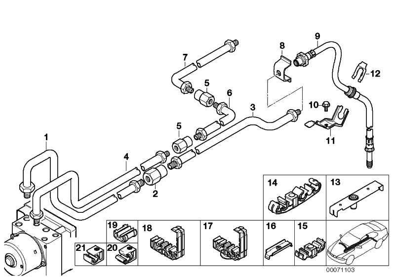 Rohrleitung M12/M12-1527MM  3er Z3  (34326754537)