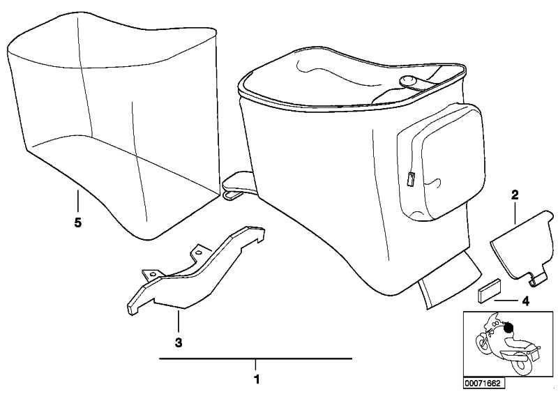 Befestigung Tankrucksack hinten F650GS/GS-DAKAR  (71607653289)
