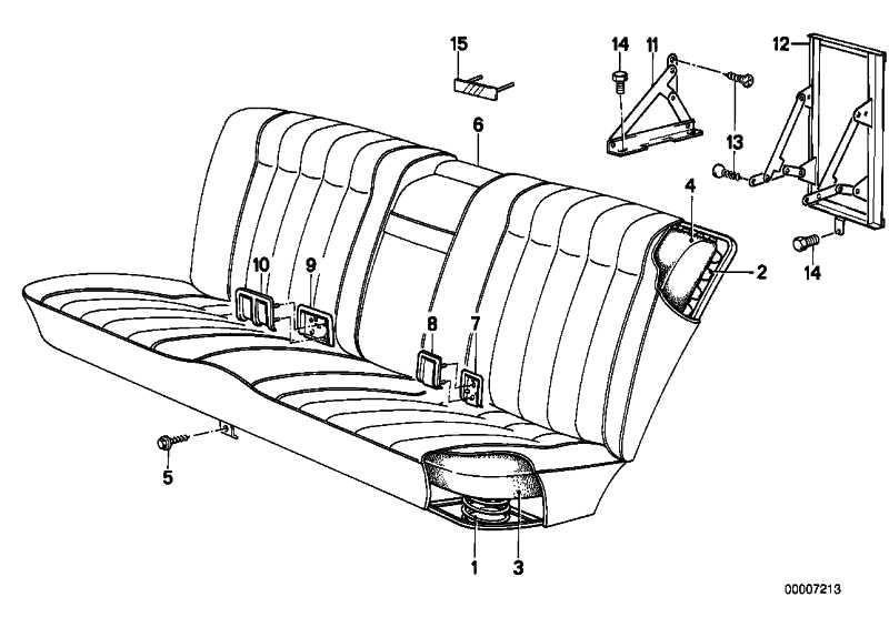 Spange Rückenlehne hinten M TECHNIC       3er 5er  (52201927590)