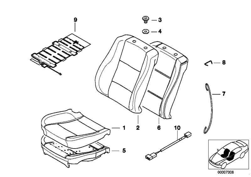Sensormatte Beifahrersitzerkennung  5er 7er  (65778383550)