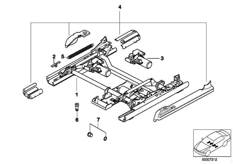 Antrieb Sitzlaengs-U.Neigungsverstellung  5er 7er  (67318352191)