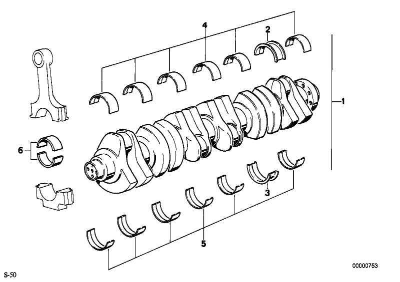Lagerschale rot 50,00MM(0)      3er  (11241404133)