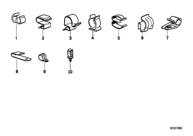 Kabelhalter SCHWARZ 1er 3er 5er 6er X1  (61131389898)