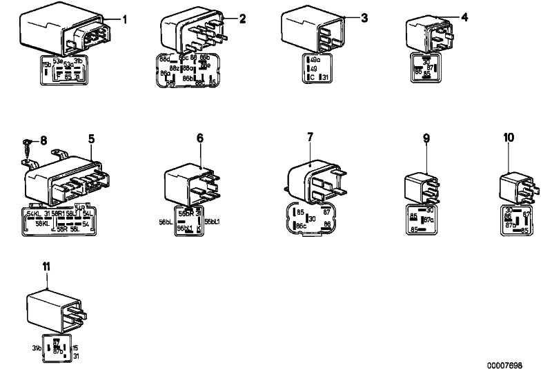 Relais Doppelschliesser minzgrün  3er 5er 6er 7er Z1 Z3  (61368353447)