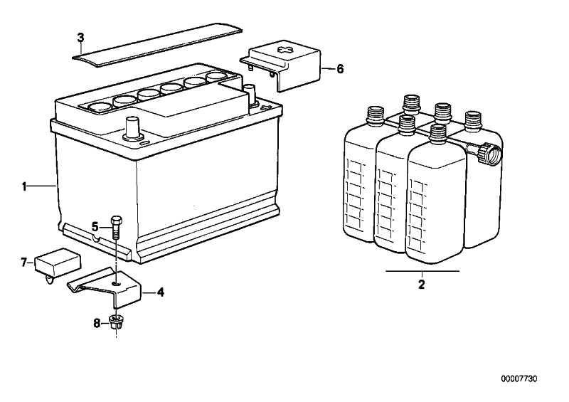 Original BMW Batterie gefüllt 50AH 3er 5er Z3  (61212158121)