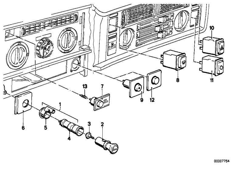 Schalter Klimaanlage  6er  (61311381498)