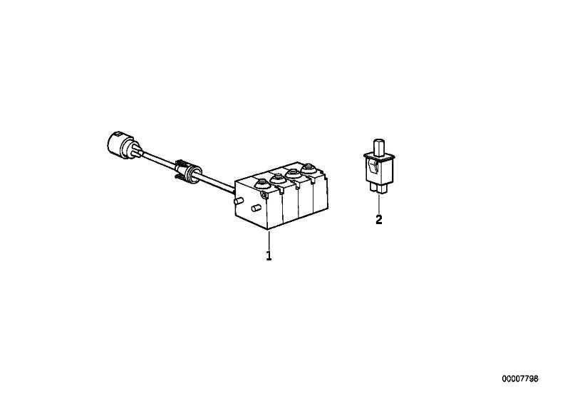 Mikroschalter Zentralverriegelung  Z1  (61312297027)