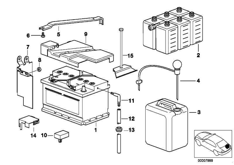 Haltebügel Batterie  5er  (61218368212)