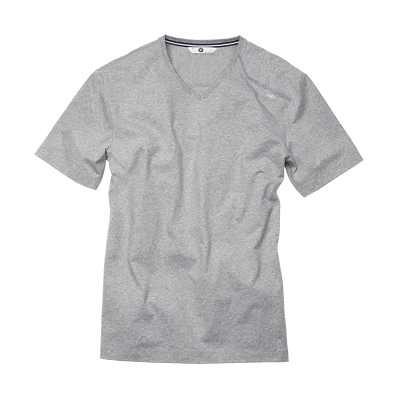 BMW T-Shirt V-Neck Herren grau melange