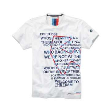 BMW Motorsport Graphic T-Shirt Herren weiß