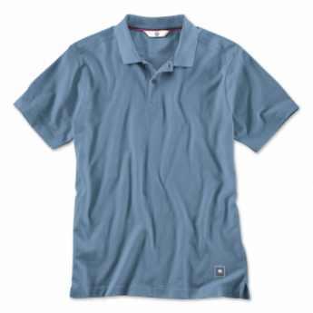BMW Herren Poloshirt steel blue