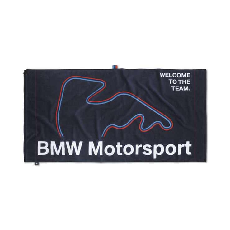 BMW Motorsport Strandtuch blau