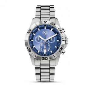 BMW Herren Armbanduhr Sport-Chronograph silber/blau