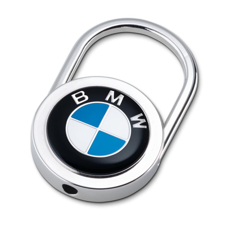 BMW Schlüsselanhänger Emblem silber