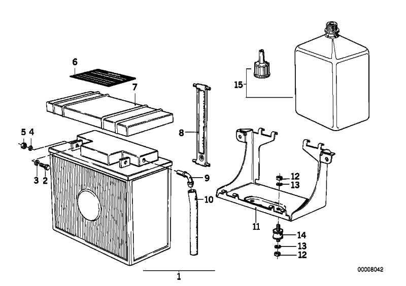 Batterie wartungsfrei 12V 19AH  (61212346800)