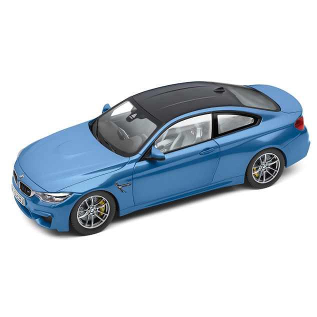 BMW M4 Coupé F82 M blau Miniatur 1:18