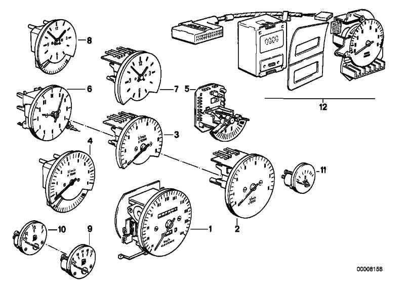 Drehzahlmesser mit Verbrauchsanzeige L/100KM         3er  (62131380583)