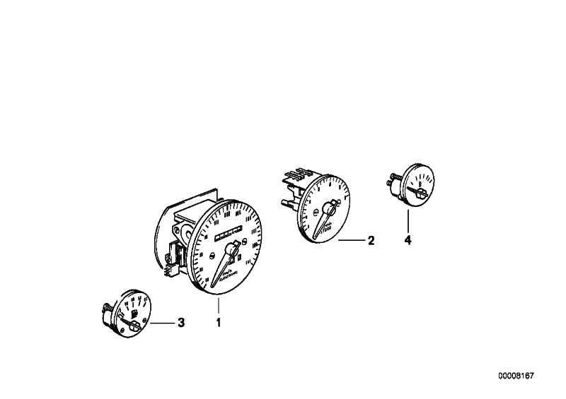 Tachometer MPH             Z1  (62122297108)