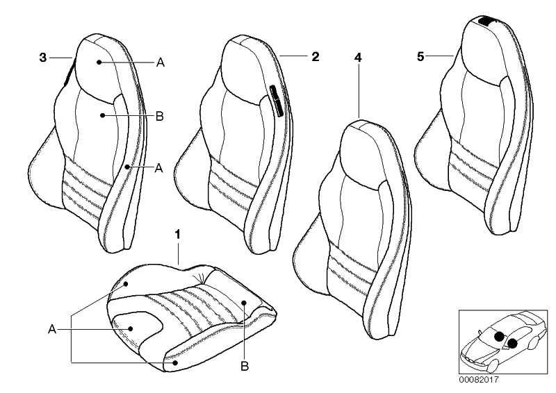 Bezug Sitz Leder bicolor MUGELLOROT      Z3  (52108012015)
