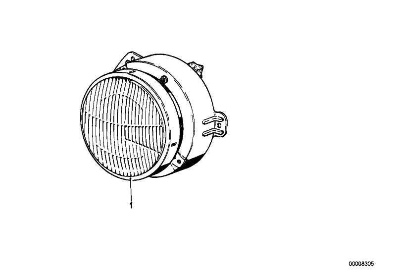 Scheinwerfer rechts H4              3er  (63121362676)