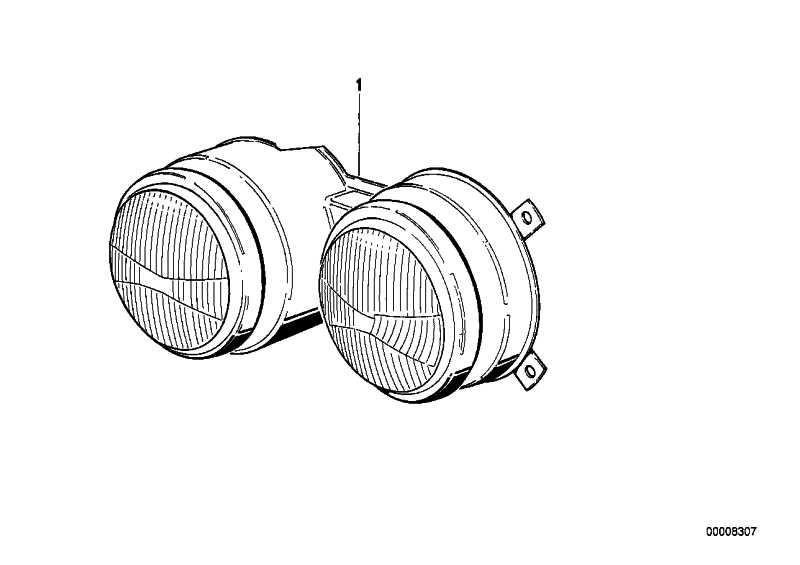 Doppelscheinwerfer links  6er  (63121371751)
