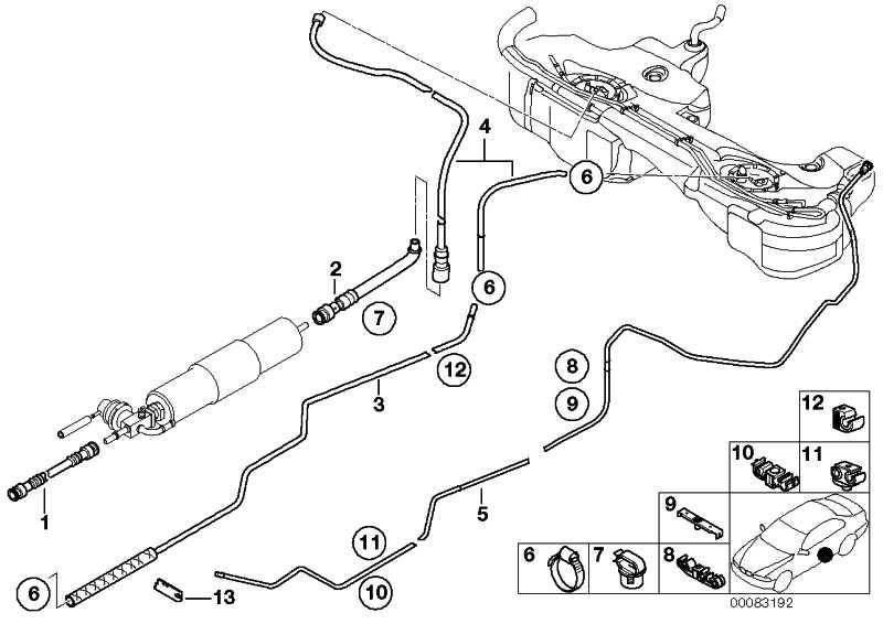 Kraftstoffvorlaufleitung vorne  3er  (16122229410)