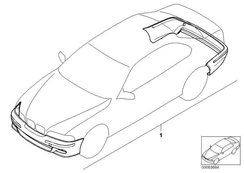 Nachrüstsatz M Aerodynamikpaket (Basis) PDC             5er  (51710027253)