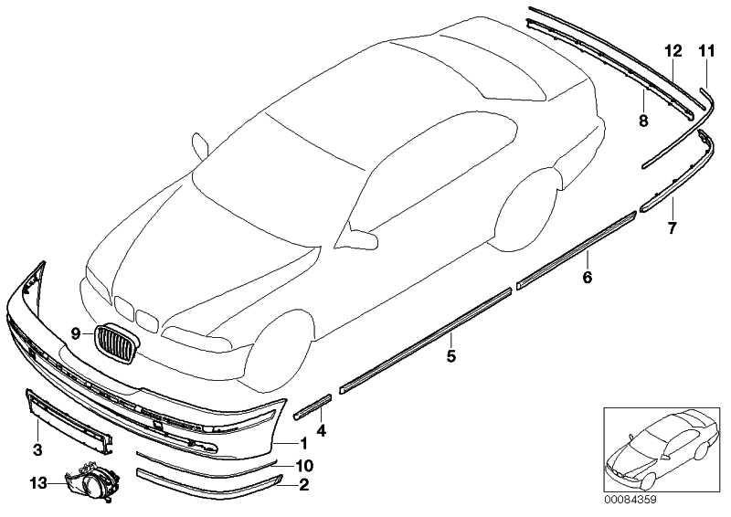 Verkleidung Stossfänger lackiert vorn CODE - UNI/MET. 5er  (51110021320)