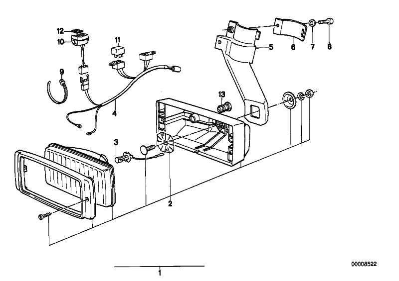 Kabelsatz Zusatzscheinwerfer   (61121459443)