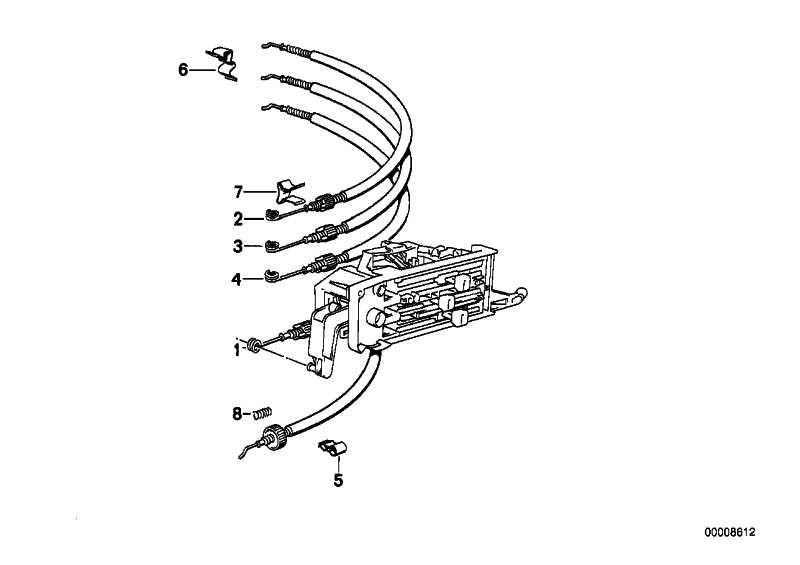 Bowdenzug Entfrostung  3er Z1 BMW  (64111370916)